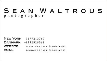 Sean Waltrous Photographer